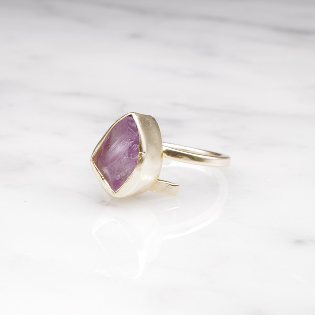 ROUGH STONE RING GOLD 007