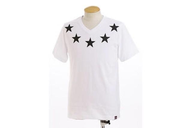 【GRF】Vネック星柄Tシャツ/ホワイト