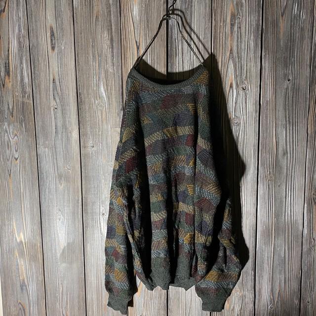 [used]crazy pattern box knit