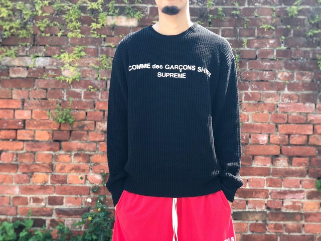Supreme 18AW × COMME des GARCONS SWEATER BLACK MEDIUM 310JD5827