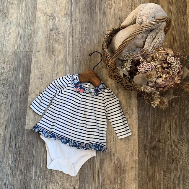 babyGAP * 60㎝ 花柄フリルロンパース