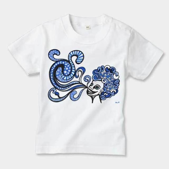 ◆キッズTシャツ 70.80.90サイズ対応◆ ブルーラッパー ホワイト
