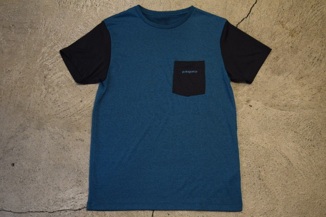 USED Patagonia Recycle Polyester Pocket T-shirt T0232