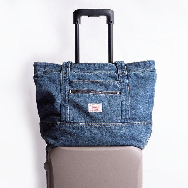 SELVEDGE DENIM CARRY-ON TOTE BAG USED【セルヴィッジ デニム キャリーオン トートバッグ USED】