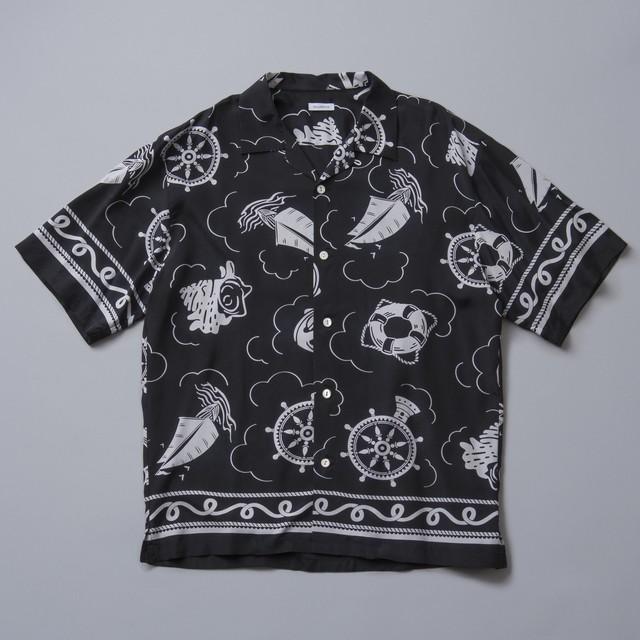 "[SOLARIS&CO.] Pattern OP S/S Shirt ""青幇"""