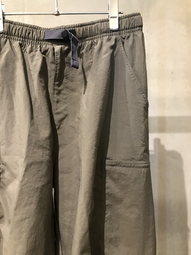 pre-fix nylon side zip tapered track cargo pants