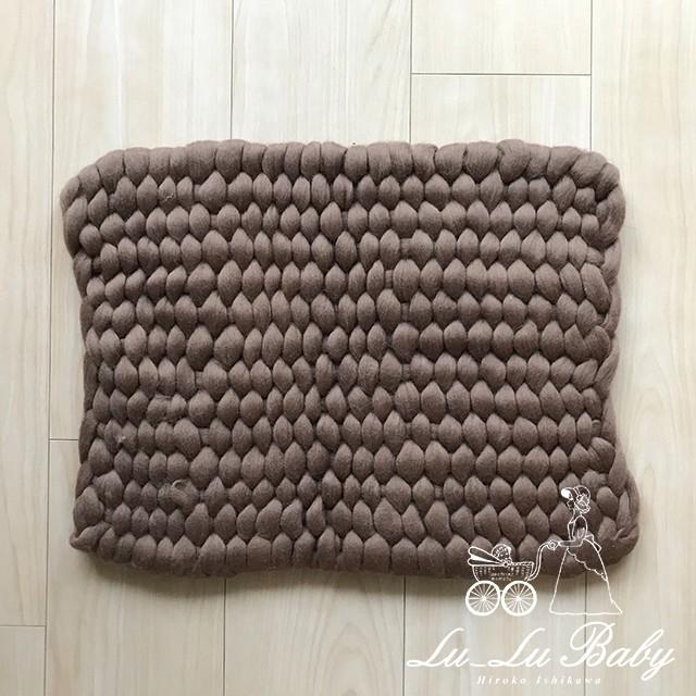 ソフト三つ編み敷物