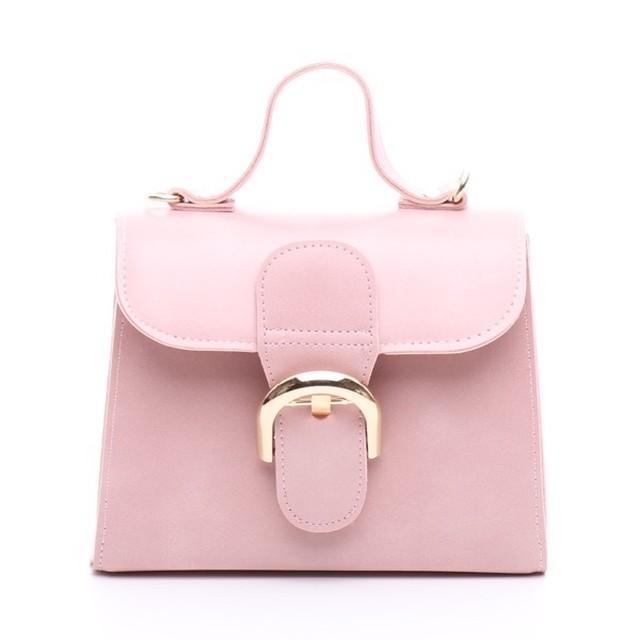 ミニゴールドバックルバッグ ピンク