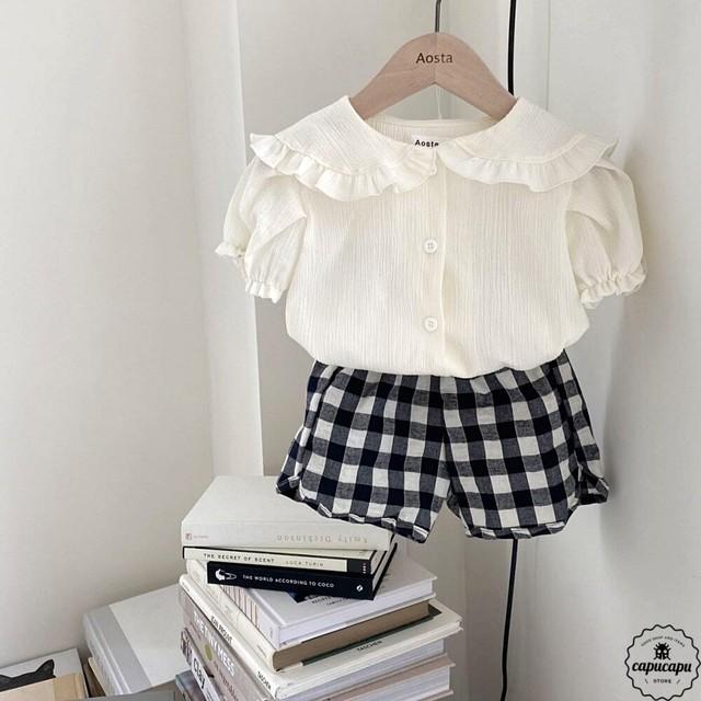 «予約» Aosta bazz linen short pants リネンチェック パンツ