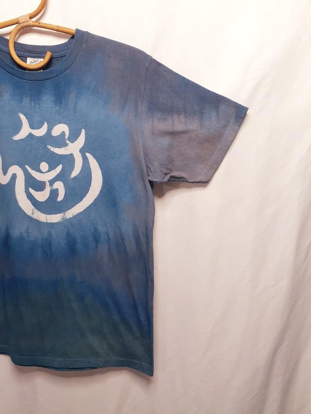 手書き&手染めTシャツ(藍染・ベンガラ染め)