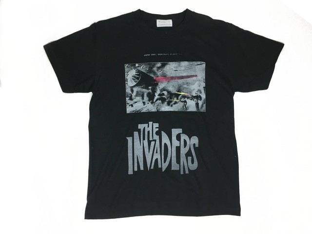 2-212-922  THE INVADERS  TEE  [BK X WHITEGRAY]  size:L