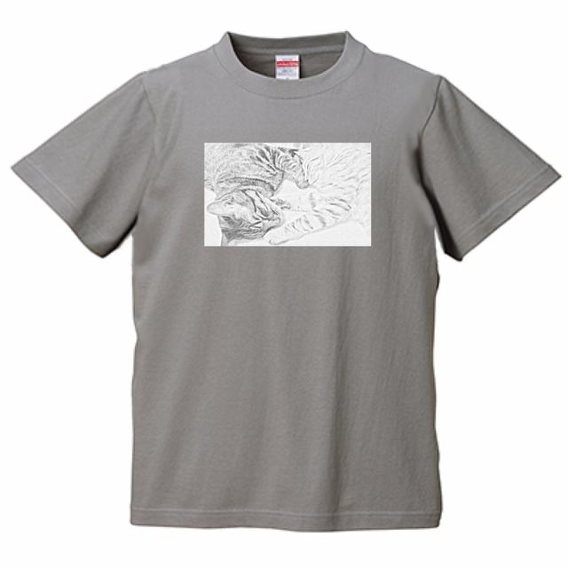 『猫Tシャツ特集#2』 United Athle5.6ozTシャツ ストーングレー