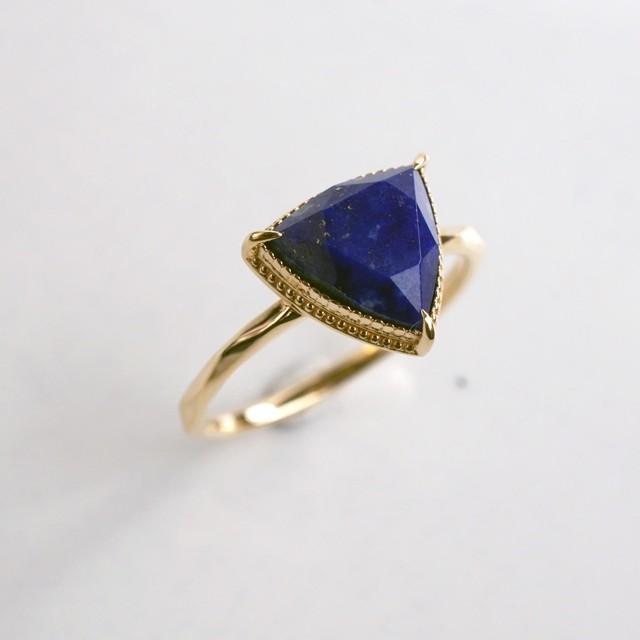 Lapis lazuli Ring (Trilliant)