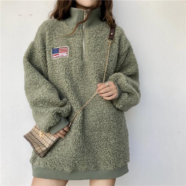 モコモコ パーカー ふわふわジャケット 2色 RPTOP110801