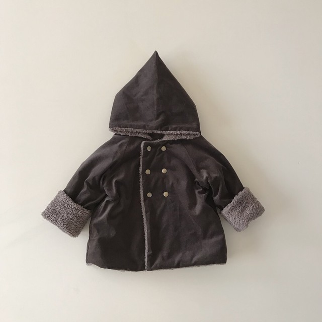 kobito coat : charcoal gray (100)