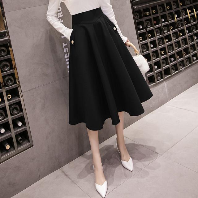 サイドポケットAラインスカート(3color) D210802
