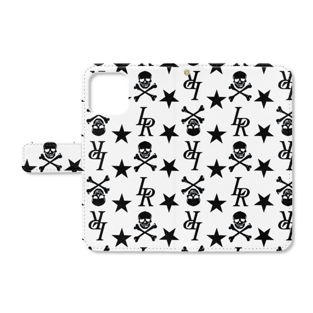 LOVERSROCK monogram/スーパーラヴァーズ手帳型アイホンケース12、12プロ