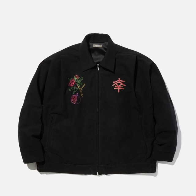 "【PSEUDOS】""EMBROIDERED SOUVENIR JKT"""