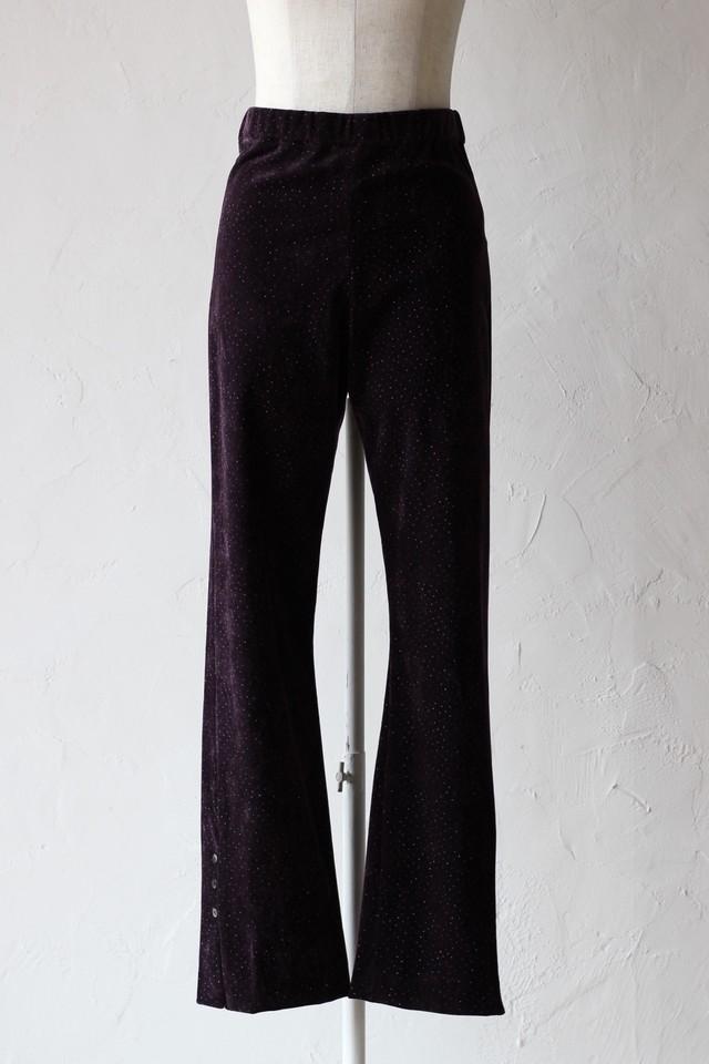【Eicayoshinari】snow flake flocky pants-violet