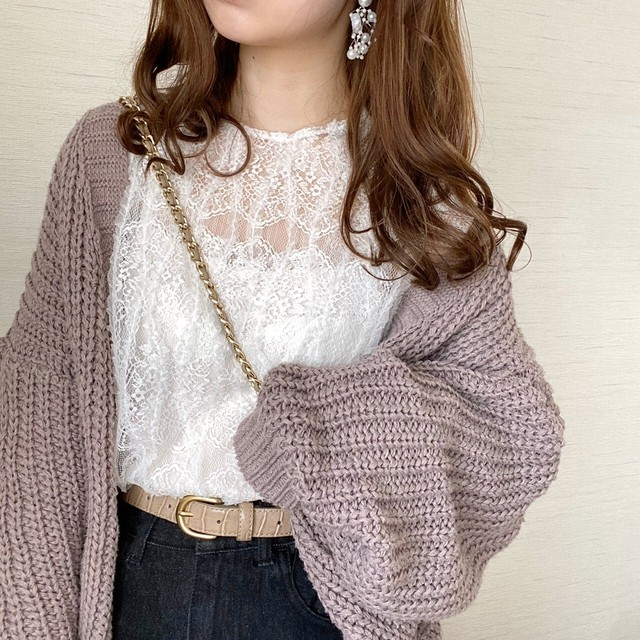 lace girly tops[20J-16]