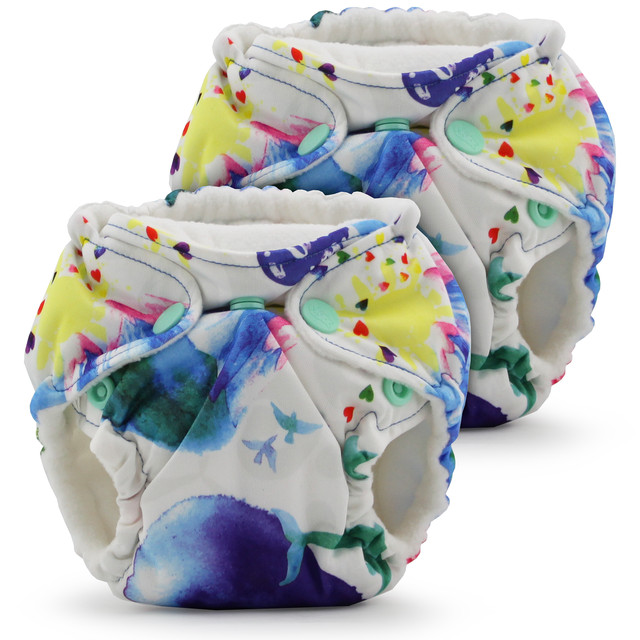 Lil Joey Preemie & Newborn AIO Cloth Diaper(2pk)【pattern】 kangacare カンガケア リルジョイ 布おむつ(2個セット)【柄デザイン】
