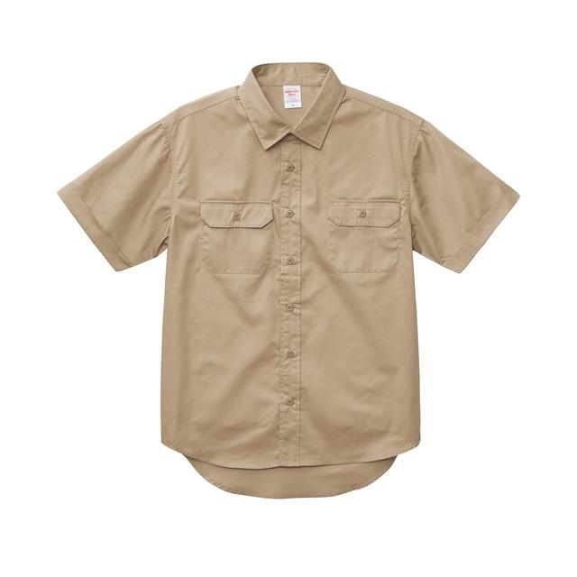 刺繍×ワークシャツ XXL〜