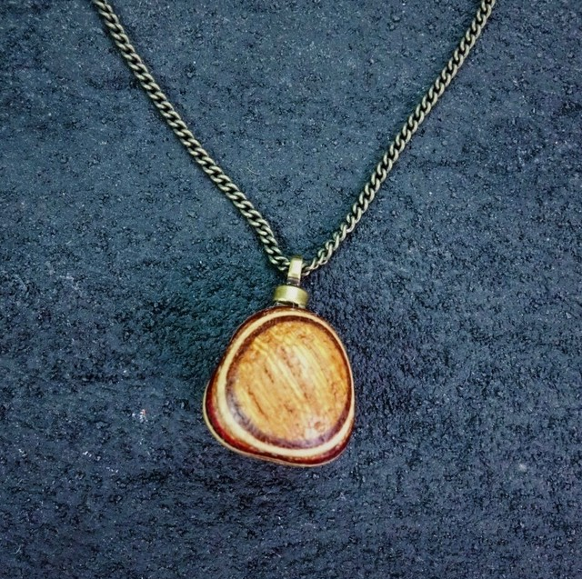 Striped woodball pendant NWB-004