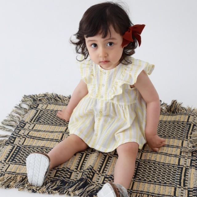 【ベビー服,セットアップ】2WAYワンピースとブルマ / ミモザ / 80~90サイズ