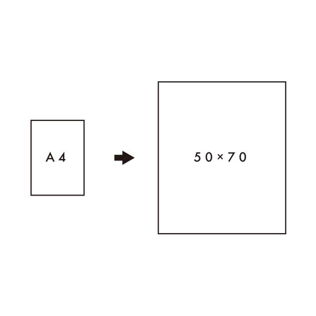 [50×70 cm]サイズアップ