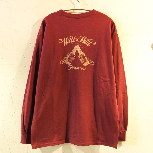 【一点物】 Forever Long T-shirts Burgundy Lサイズ