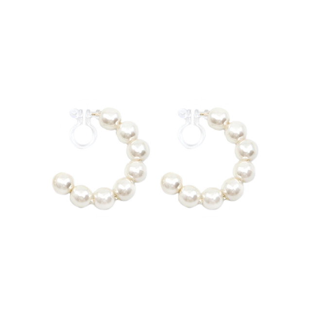 pearl hoop non hall pierce