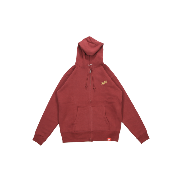 LOGO ZIP UP HOODY 2020 [BURGUNDY]
