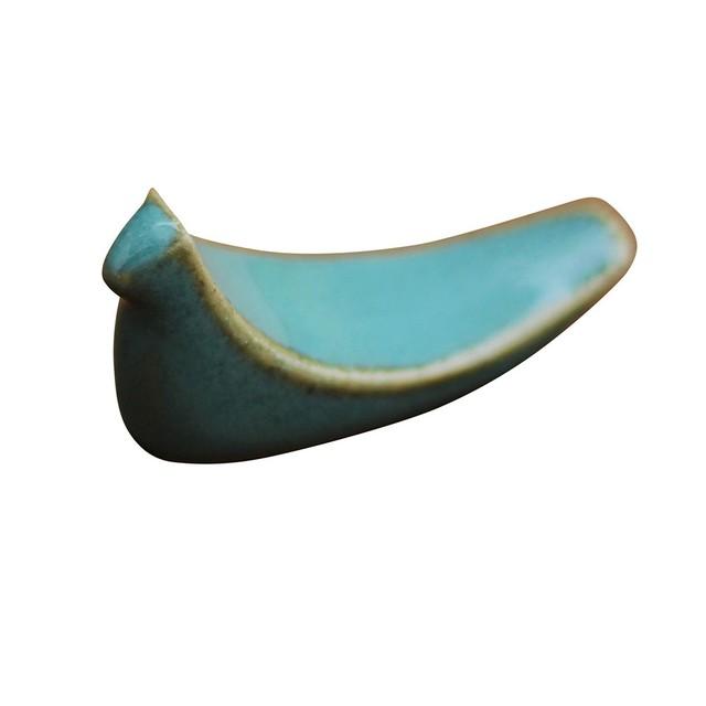 益子焼 つかもと窯 トリの 箸置き 益子青磁釉 SH-3