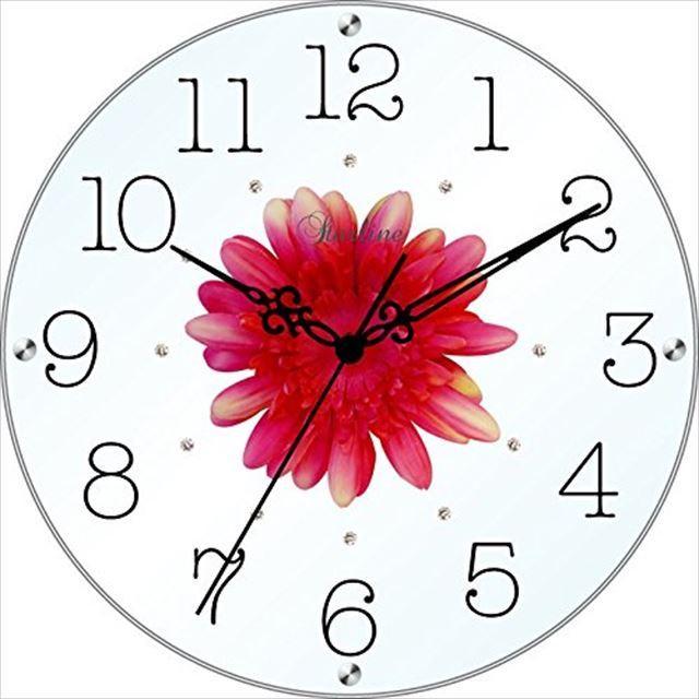 掛け時計 造花 アートフラワークロック SW-1186 スターライン - メイン画像
