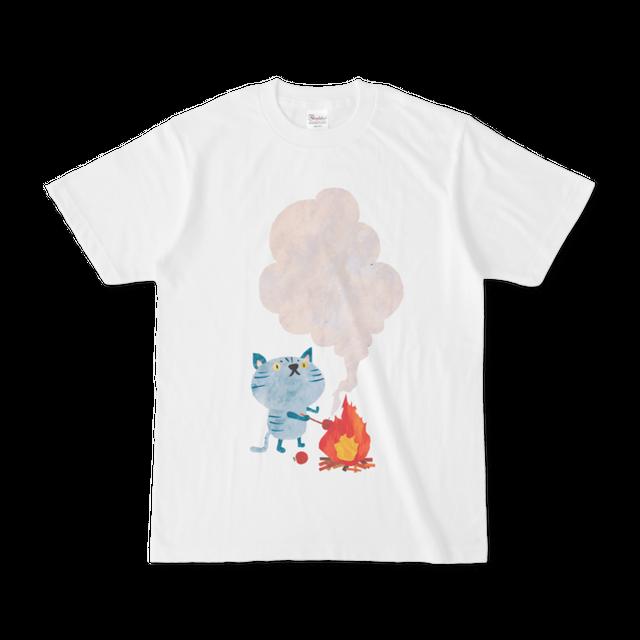 前面プリントイラストTシャツ 『リンゴやき』