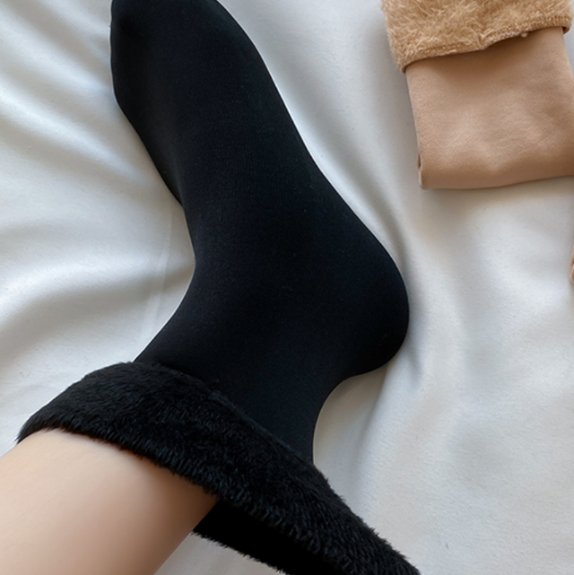 With fur basic design socks set LD0449