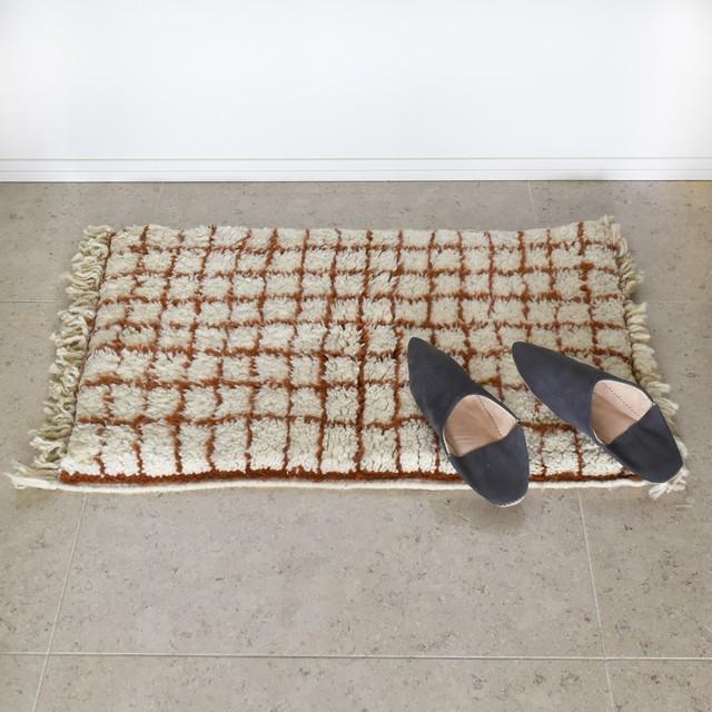 """ベニワレン / Grid brown """"53cm×85cm"""""""