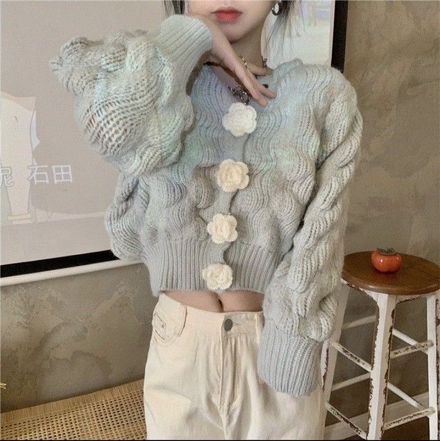 rose button tops 3color