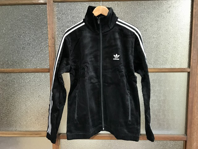 ADIDAS CORD TRACK TOP (BLACK)