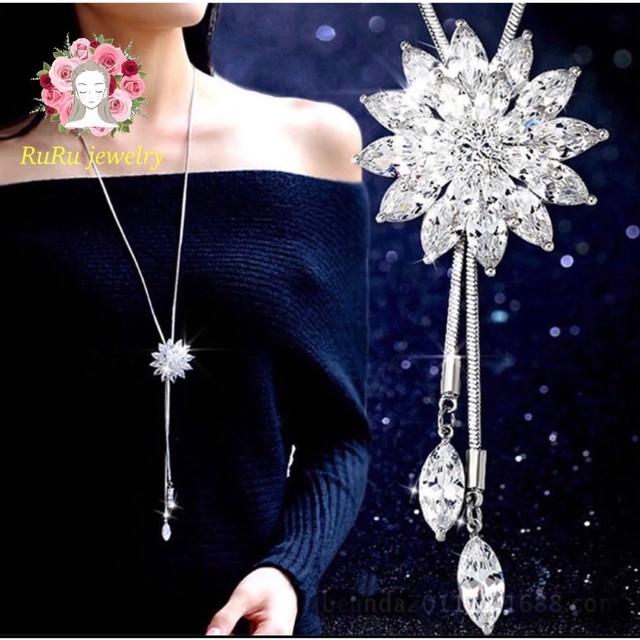 Flower long lariette(necklace)