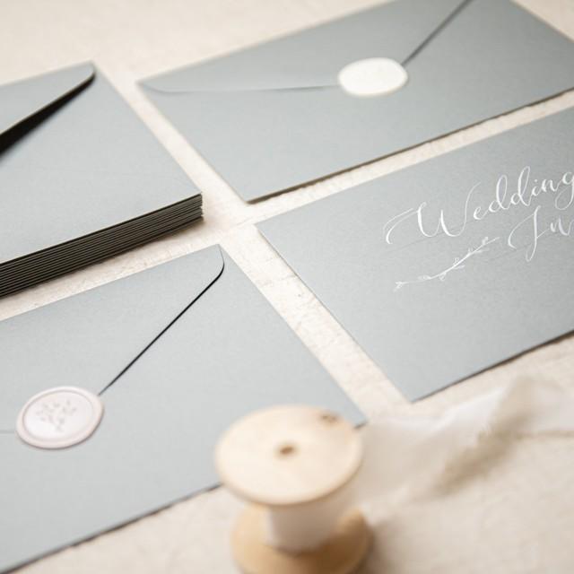 コットンカラー封筒 グレー(洋1)| 10枚