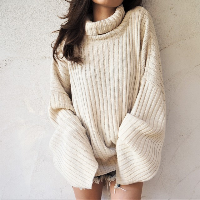 Loose High-neck Knit《OFFWHITE》