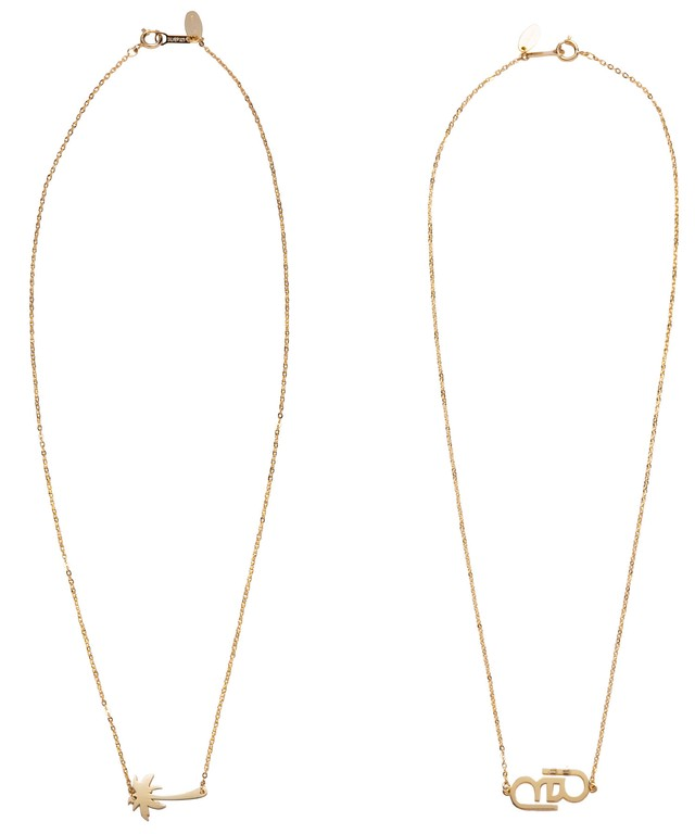 ONE POINT TOP CABLE CHAIN NECKLACE-GOLD[REA149]