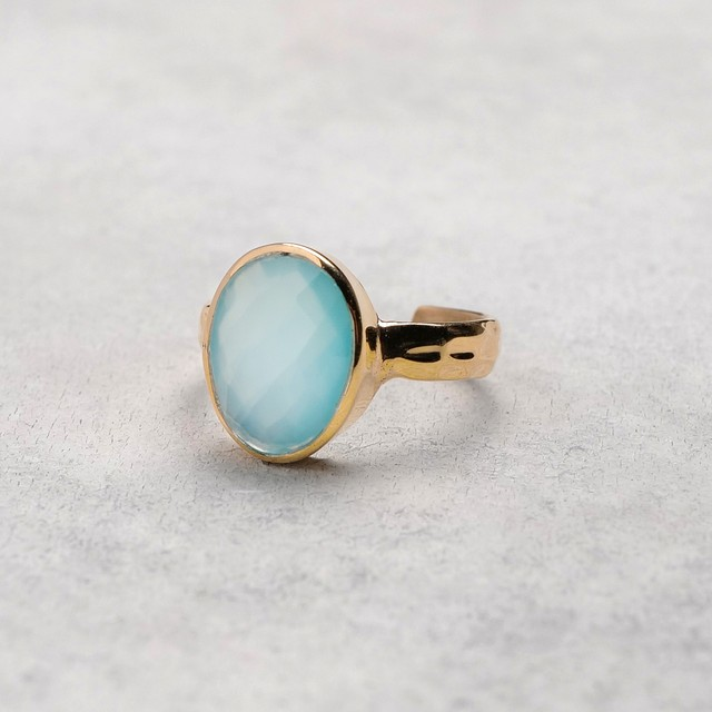 SINGLE STONE ADJUSTABLE RING 009