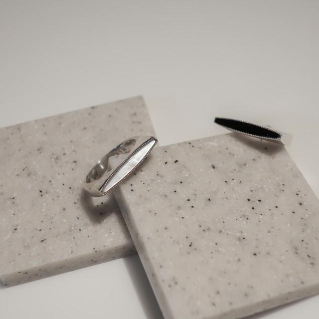 [Silver925] シェルラインリング