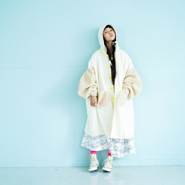 REMOVABLE FOODED MIX MELTON COAT / WOMEN