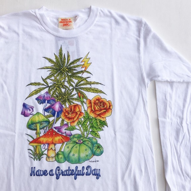 "Have a Grateful Day ""Mushroom Long Sleeve T-Shirts"""