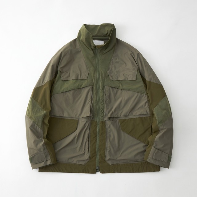 STAND COLLAR JACKET - KHAKI