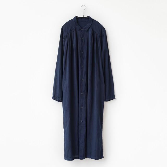 コットンローン ロングシャツ(別注カラー:濃藍)