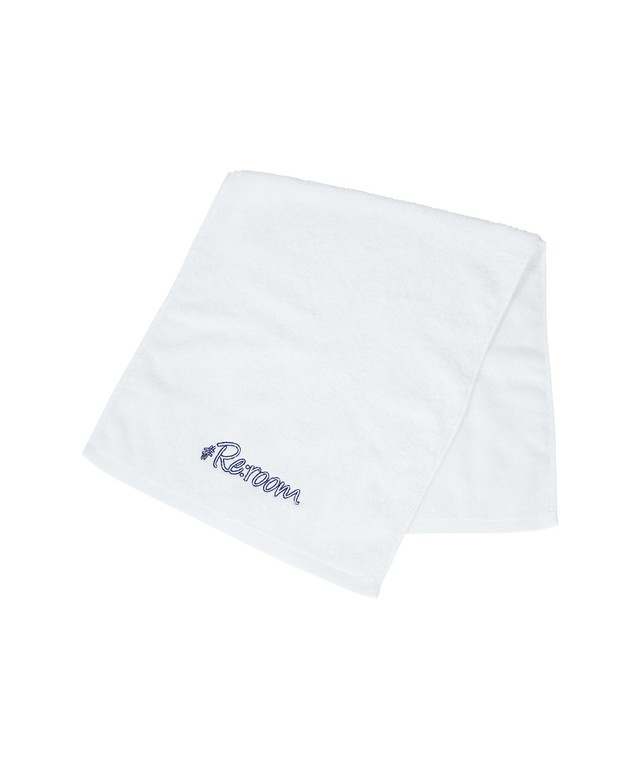LOGO FRAME EMBROIDERY FACE TOWEL[REG127]
